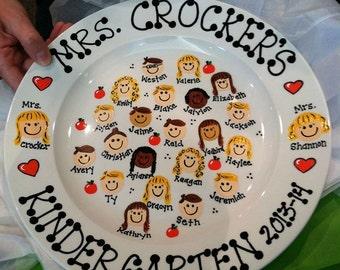 Personalized Teacher Plate Gift Appreciation