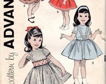 "1960s Girls' Party Dress Pattern - Size 3, Breast 22"" - Advance 9305"