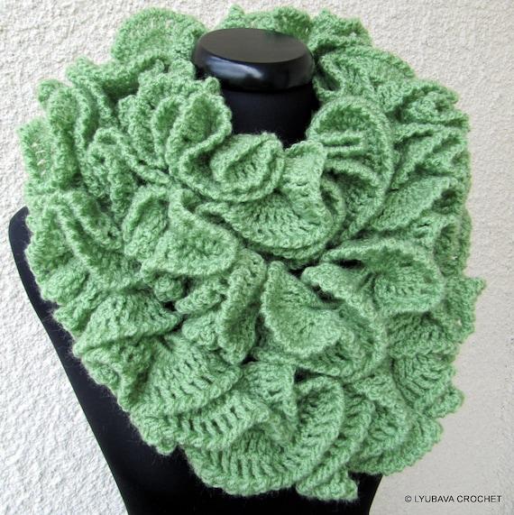 Crochet Ruffle Scarf : CROCHET SCARF PATTERN, Crochet Ruffle Scarf Pattern, Long Scarf, Diy ...