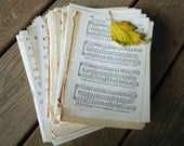 Sheet Music Paper Ephemera -15 Pages 1920's - 70's Christian Hymns- Vintage Paper Scrapbooking Supply