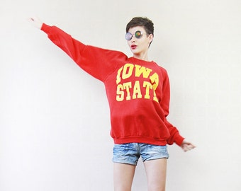 Red yellow patriotic IOWA STATE sweatshirt