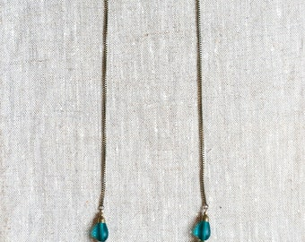 Hareh Rope Necklace - Tumbled Glass