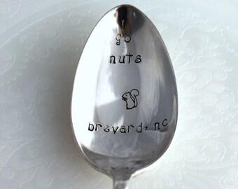 Vintage Spoon Hand Stamped - go nuts brevard, nc - Talisman 1938 - stamped silverware spoons