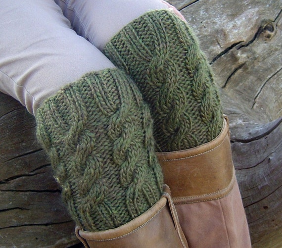 KNITTING PATTERN Boot Cuff Boot Topper Easy Cable Pattern