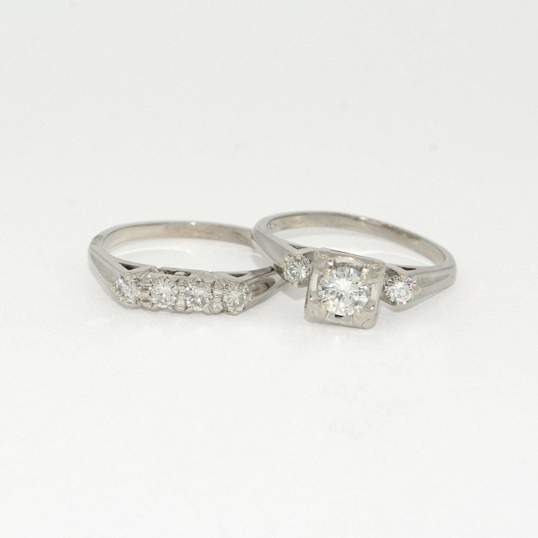 Vintage wedding band antique engagement ring hot girls for Vintage wedding rings sets