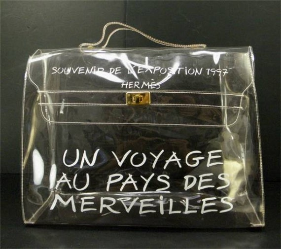 SALE SPECIAL Hermes a rare transparent Vintage vinyl by eNdApPi