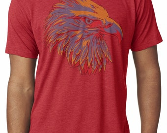 Faded Eagle T-Shirt Vintage Style Men's Graphic Tees