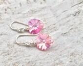 Heart Earrings, Dangle Earrings, Silver Heart Earrings