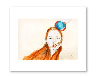 Fashion Portrait- Lily Circles- Fashion Illustration- Fashion Print
