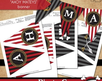 Pirate Cove Banner • PRINTABLE Party• Costume • by The Occasional Day