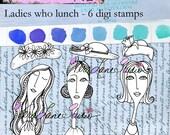 Ladies who lunch - Digi stamp set