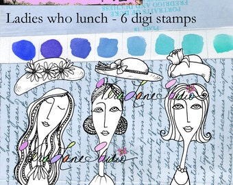 Ladies who lunch - Digi stamp set