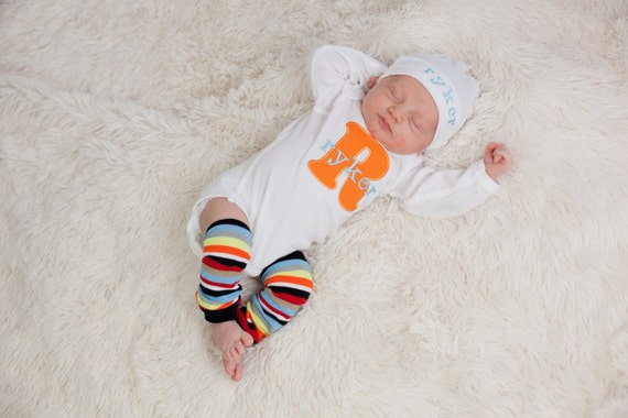 Baby Boy Clothes Monogram Personalized Bodysuit or by