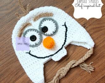 Snowman Hat, Crochet Snowman Hat, Inspired Olaf Hat, Olaf Hat