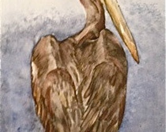 PETER PELICAN - Original watercolor aoeteam