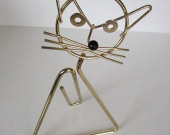 Vintage Triangular Cat Paper Clip