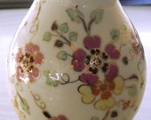 Vintage Zsolnay Porcelain Vase, Pecs Hungary Hand Painted, home decor vase, wedding gift, spring flower vase