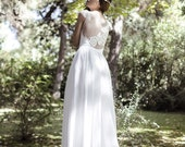 Ivory Bohemian Wedding Dress Beautiful Lace Wedding Long Gown Boho Gown Bridal Gypsy Wedding Dress - Handmade by SuzannaM Designs