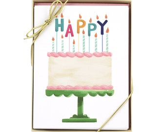 Happy Cake Card - Set of 8