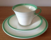 Art Deco Shelley Cup, Saucer and Side Plate