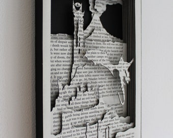 Barad-dûr - 'Lord of the Rings' Hand Cut Silhouette Scene