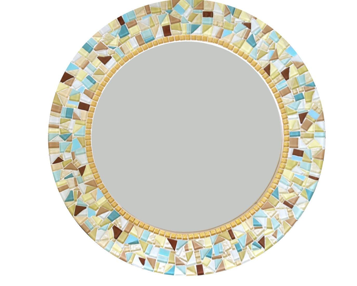 Wall mirror round mosaic mirror decorative mirror for Mosaic mirror