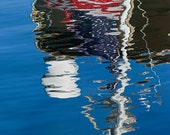 American Flag Water Reflection, Fine Art Photography, Nautical Photography, Abstract Photography