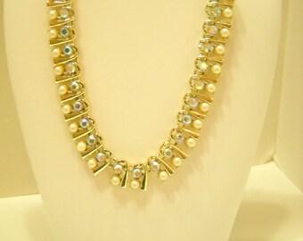 Vintage BSK  Demi Parure (0059) Necklace  & Clip Earrings