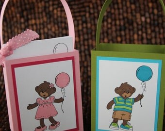 Build -a-Bear Party Favor Bags - set of 12- Boy and/or Girly Birthday Party