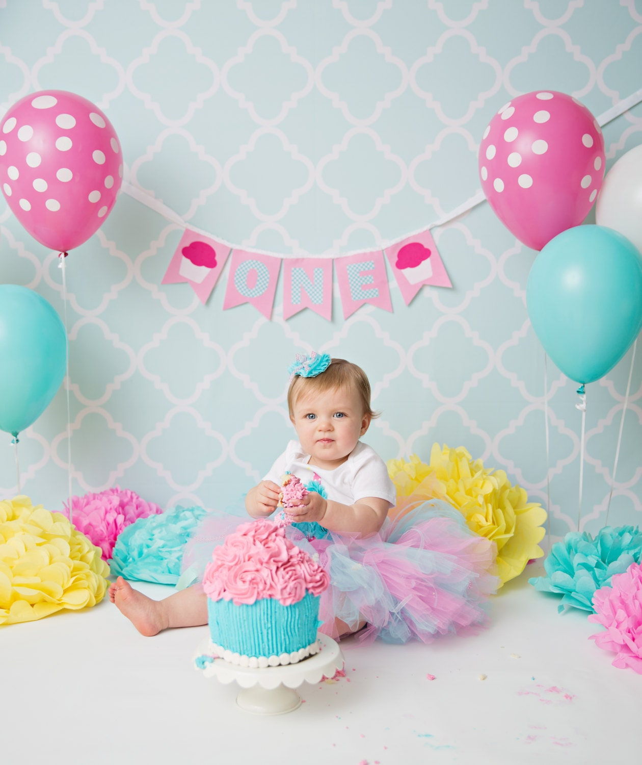 1st BIRTHDAY BANNER / 1st Birthday Girl / First Birthday Girl