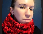 Thick & Warm Red Multicolor Scarf