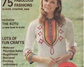 Good Housekeeping Needlecraft Magazine Spring- Summer 1972 Vintage Knitting, Crochet, Sewing, and Needlework Patterns
