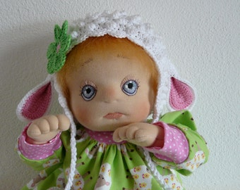 Eefje, a Handmade Soft Cloth Baby Doll, little Lamb !