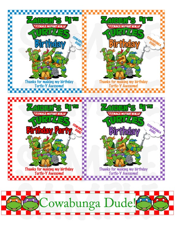 Ninja Turtle Personalized Invitations was adorable invitation ideas