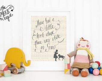 INSTANT DOWNLOAD, Mary Had a Little Lamb Handwritten Printable, No. 268