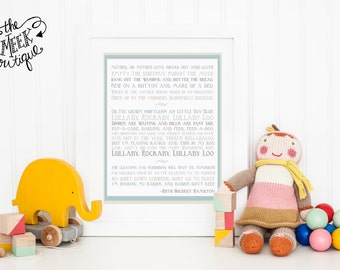 INSTANT DOWNLOAD, Poem Song for a Fifth Child, by Ruth Hulbert Hamilton, Nursery Art Printable, No. 80
