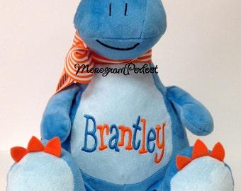 Brantley - Already Personalized-Blue Dinosaur Plush Stuffed Animal, Soft Toy