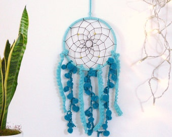 Dreamcatcher in turquise and teal | wall hanging, boho decoration