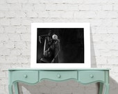 Nightmare Before Christmas Jack's Lament - Jack Skellington signed museum quality giclée fine art print Charcoal and Pastel