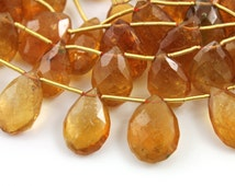 Sunstone Faceted Pear, AAA Quality Gemstones Appx. 8x12mm, 1 Strand (SUN/8x12/PEAR)