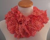 Salmon Pink Ruffle Fashion Scarf