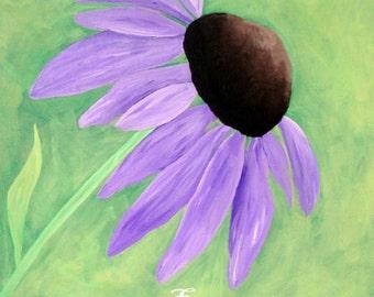 "Purple Coneflower Art - ""Breathe"""