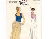 Wrap Skirt, Wrap Skirt Pattern, Very Easy Vogue, Vogue Patterns, Size 26 1/2, long Wrap Skirt