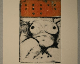 Drypoint etching 30.11.14