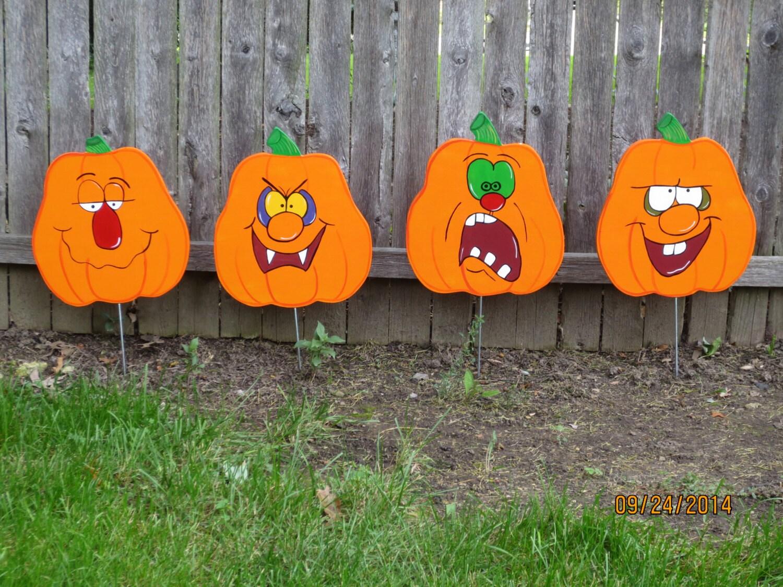 Halloween yard decorations diy - Halloween Pumpkin Jack O Lantern Wood Outdoor By Chartinisyardart