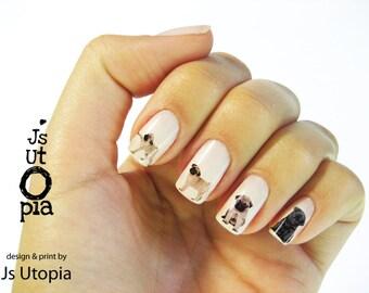Pug Nail Sticker