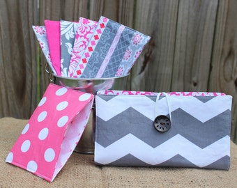 Pink and Grey Chevron Cash Envelope Wallet Budget System ***SEE DESCRIPTION***