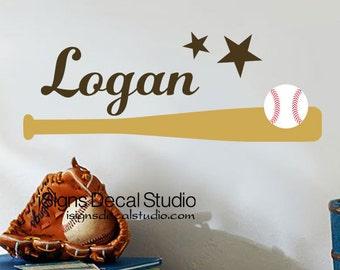 Baseball Wall Decal - Baseball Nursery Decal - Boys Room Decal -  Personalized Custom Name Decal - Sports Wall Decal - Baseball Decal