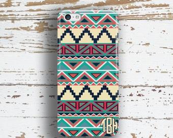 Plastic cases, Aztec Iphone 6 Plus case, Tribal iPhone 8 case, Personalized iPhone 5s case, Cute iPhone 6s case Dark coral turquoise (1316P