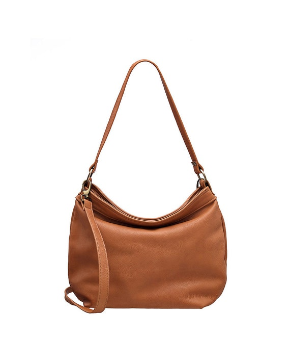 Tan hobo purse Tan soft leather bag Leather hobo bag